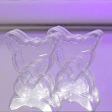 ظروف یکبار مصرف آذرخش جعبه پذیرائی طرح پروانه